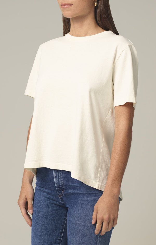 lenu back pleat shirt vanilla side