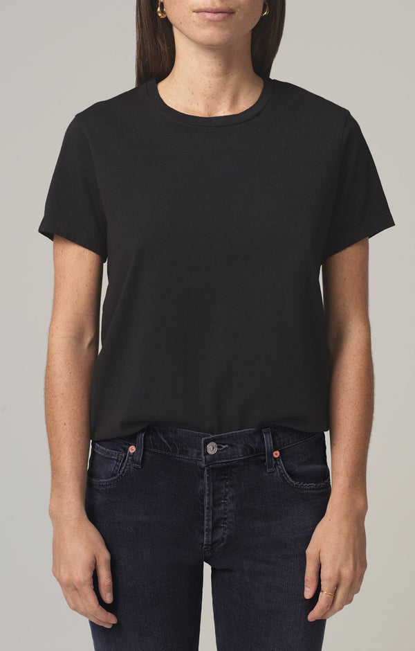 frankie classic t shirt black front