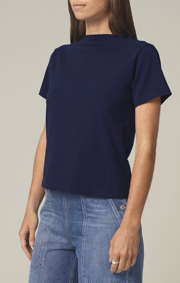 nell boat neck t-shirt royal side