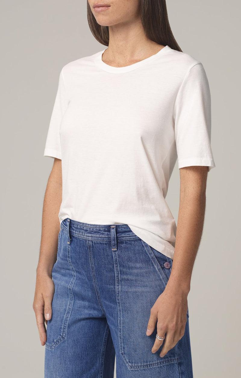 janelle scoop neck tshirt chalk side