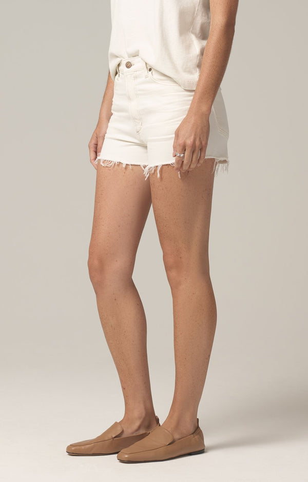 kristen high rise short ivory coast side