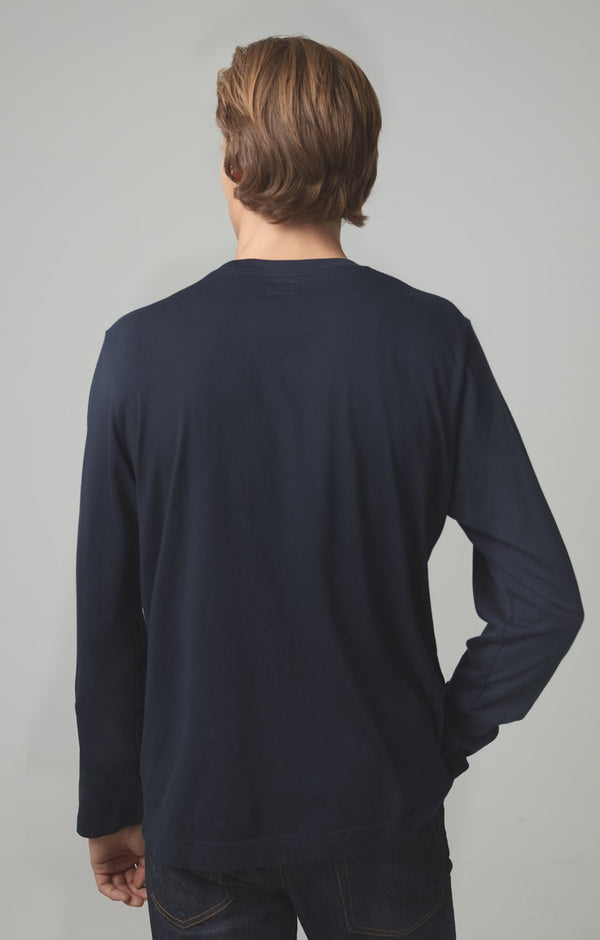 Workday Long Sleeve Tee in Navy Back