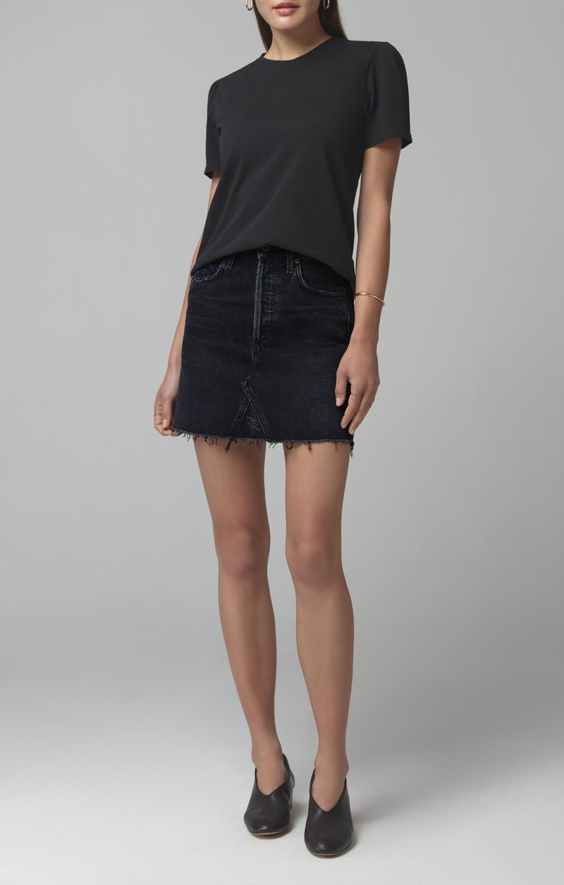 Astrid Mini Skirt in Dark Wave