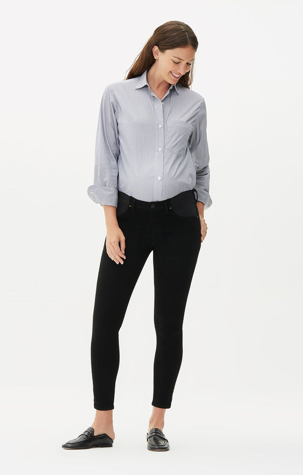 maternity avedon ankle ultra skinny fit all black back