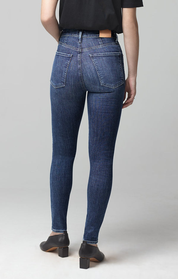 chrissy high rise skinny fit carmel back
