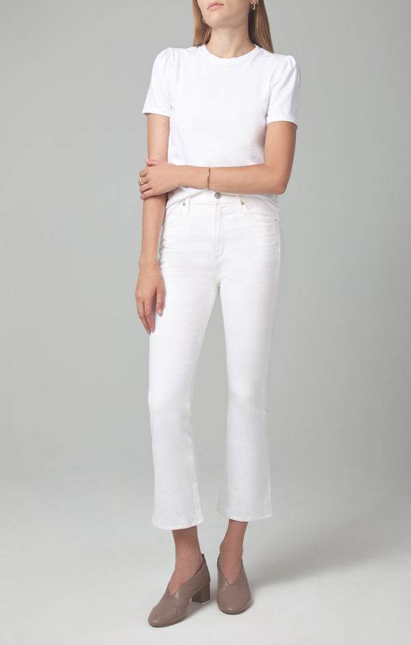 Demy Cropped Flare Denim in Unveil