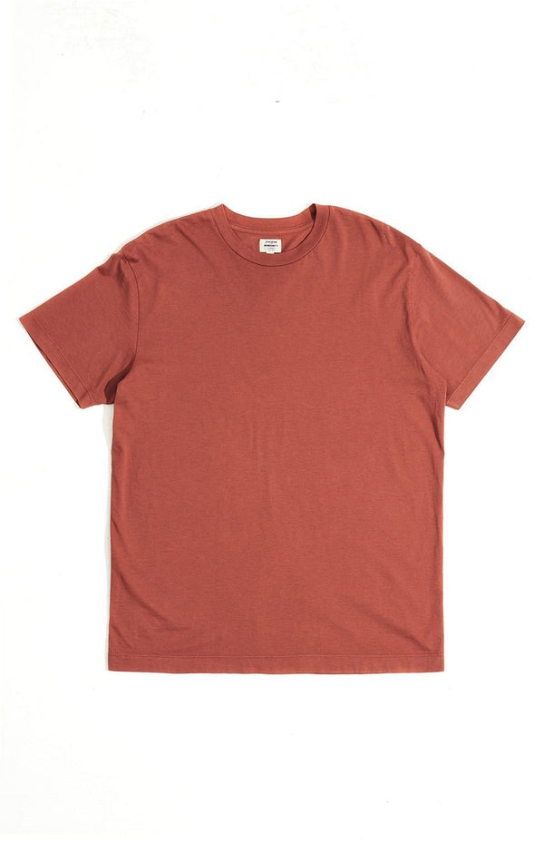 everyday short sleeve tee shirt rust back