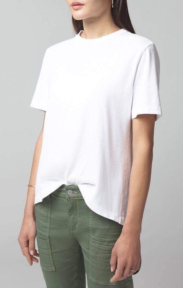lenu back pleat shirt white side