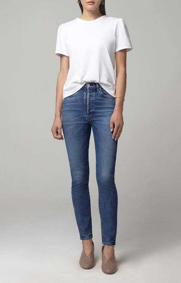 Olivia High Rise Slim Fit in Moments