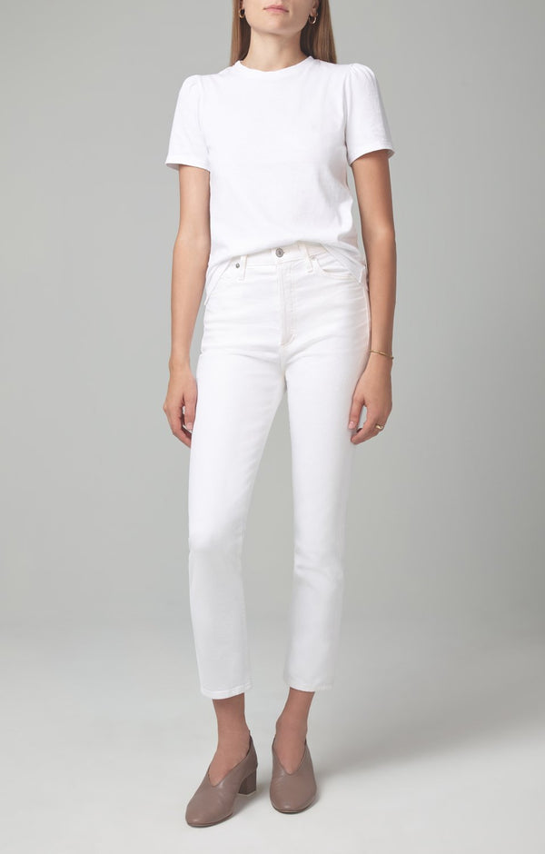 Olivia Crop High Rise Slim Fit in Unveil