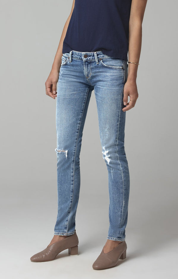 racer low rise skinny fit distressed encore back