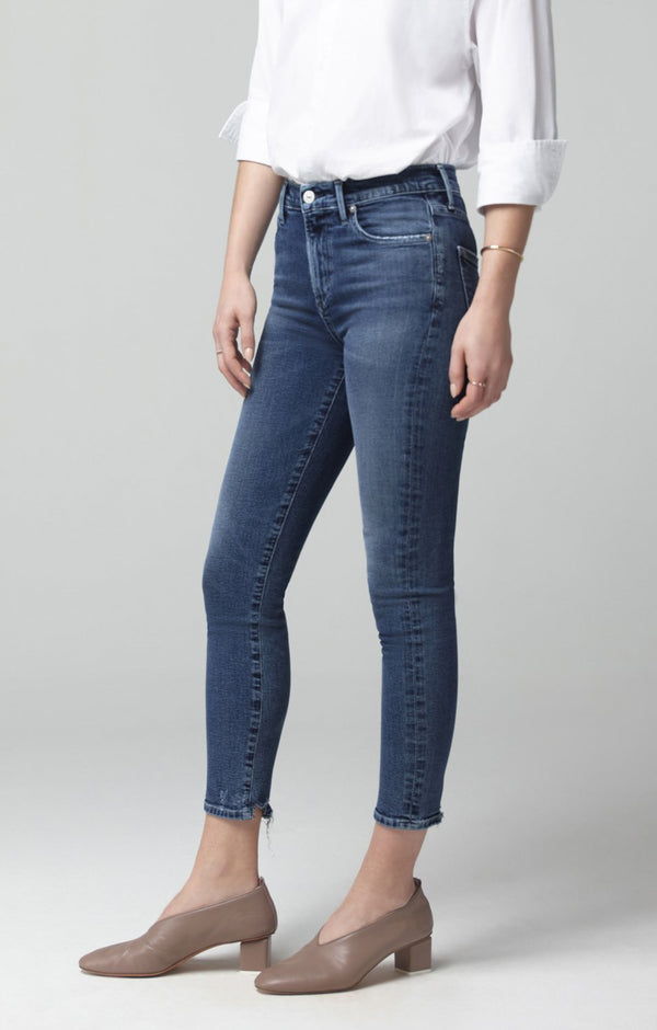 Rocket Crop Mid Rise Skinny Fit in Flicker