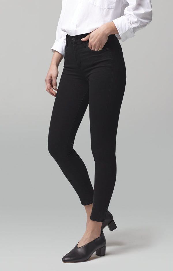 rocket crop mid rise skinny fit all black back