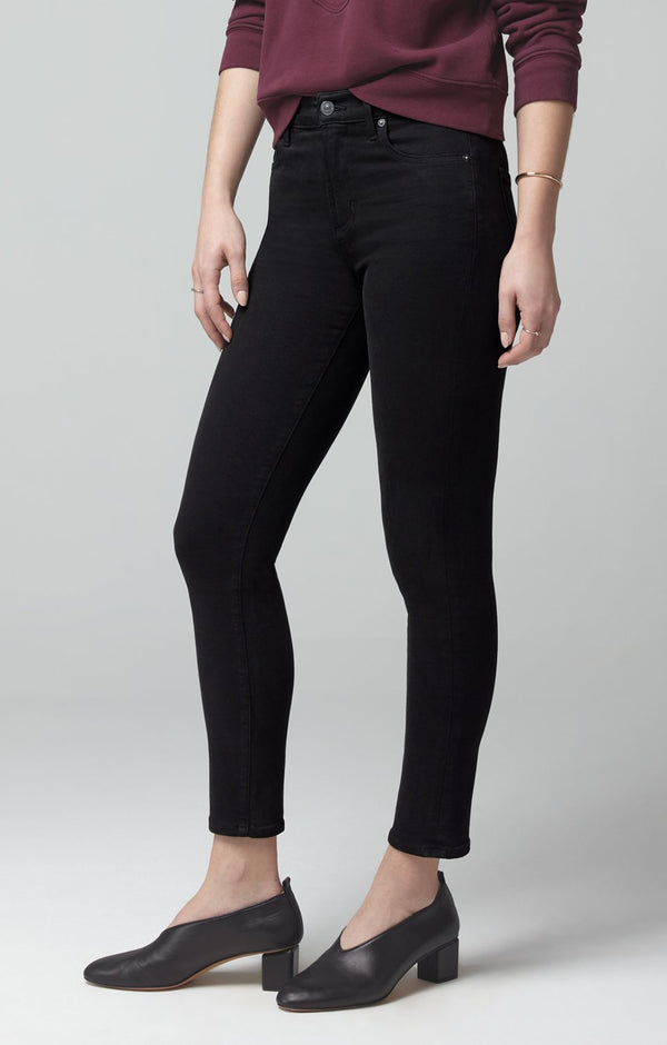 rocket crop mid rise skinny fit plush black back
