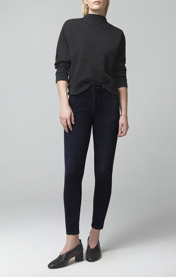 rocket crop mid rise skinny fit thrill front