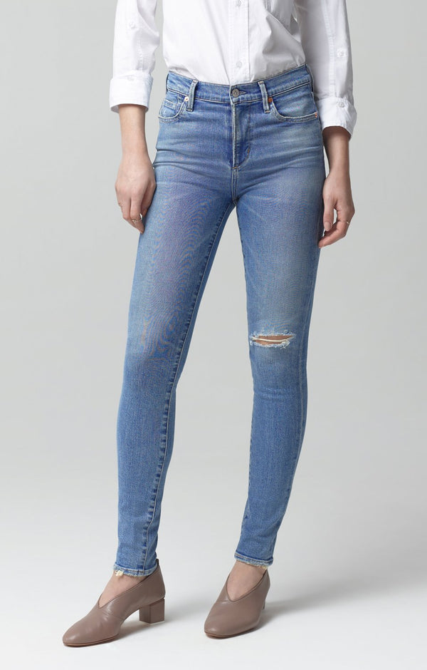 Rocket Crop Mid Rise Skinny Fit in Keeper