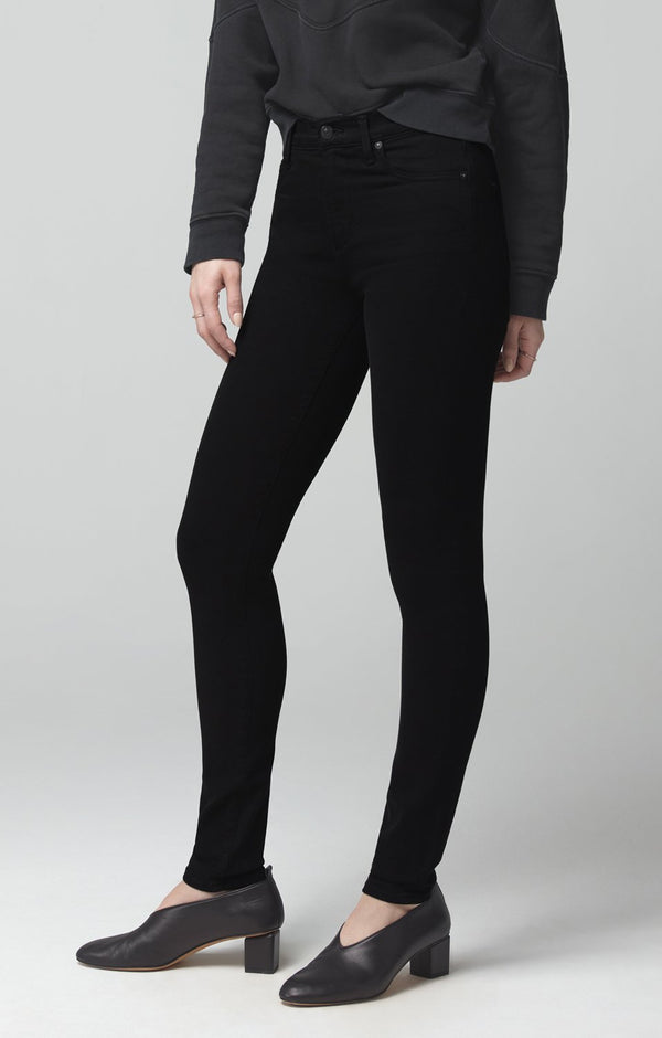 rocket mid rise skinny fit plush black back