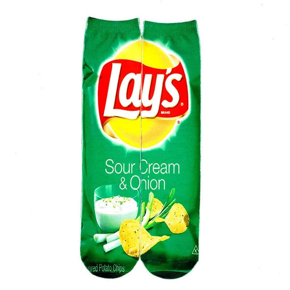 Unisex legrační ponožky Lays sour cream and onion