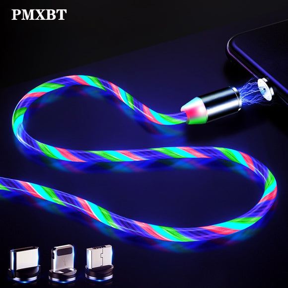 LED kabel magnetický USB, C , iPhone