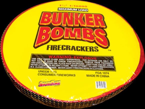 Bunker Bombs Firecrackers 16000 Roll