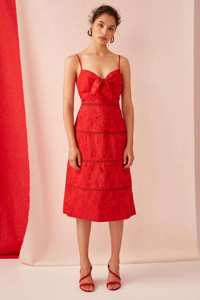About Us Midi Dress - Red