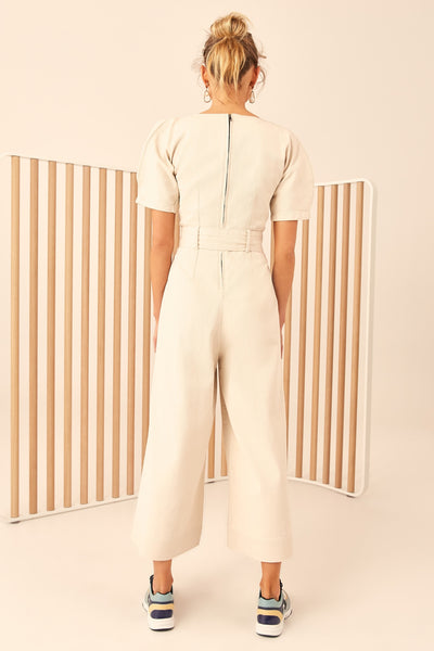 Essentials Jumpsuit - Chalk Denim