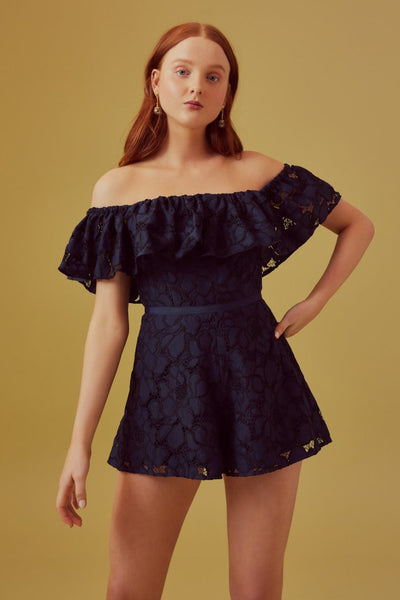 Honour Playsuit - Navy