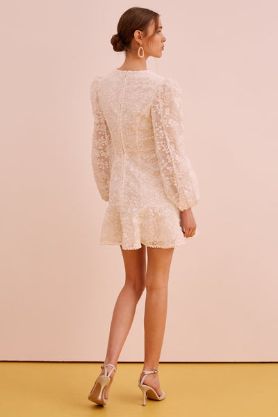 Wild Love LS Dress - Ivory