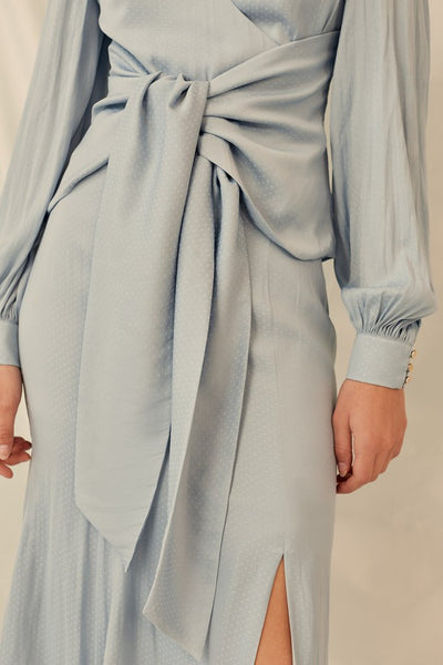 Keepsake the Label Gracious Midi Skirt Powder Blue Free Shipping