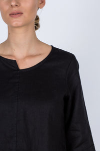 Adele Linen Top - Black