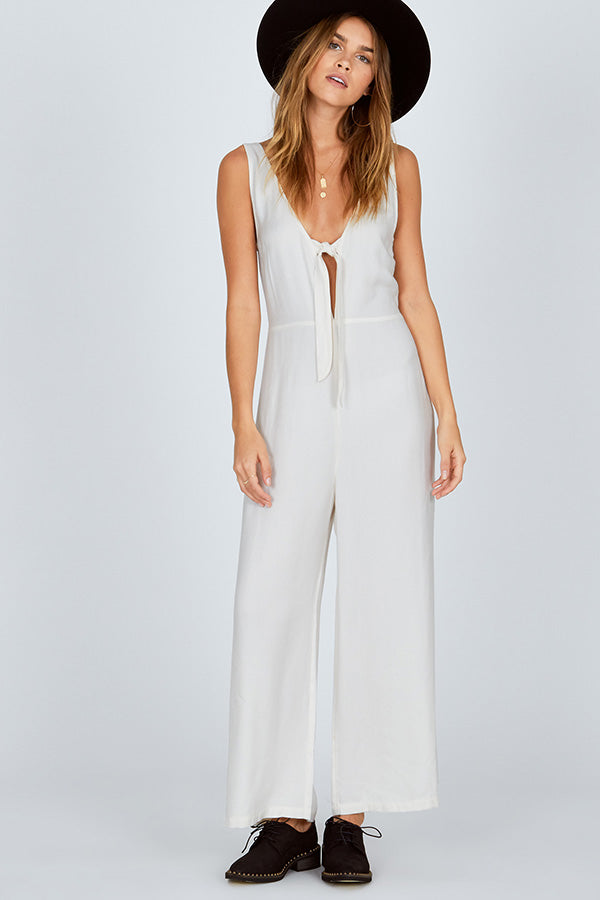 Hang On Jumpsuit- Cream XS & S ONLY