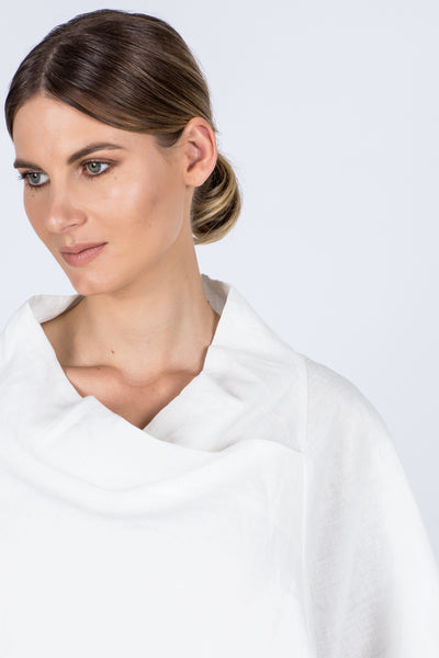 Arabella Linen Top - White