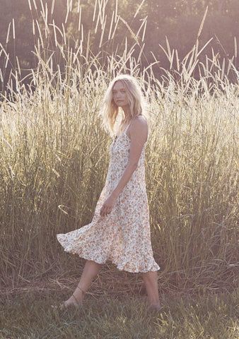 Matilda Market Midi Dress - Natural