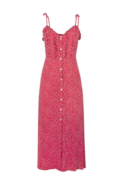 River Della Midi Dress - Red