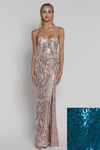 Buy Bariano Colette Scoop Pattern Sequin Gown in Teal now at Smoke and Mirrors Boutique. Buy Bariano Colette Sequin Gown with ZipPay now. Buy Bariano Colette Sequin Gown with AfterPay now. Buy Bariano with Free Shipping Australia wide on all orders over $100.