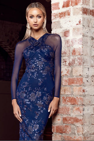 Buy Bariano Georgia Long Sleeve Glitter Gown in Navy now at Smoke and Mirrors Boutique. Shop Bariano Georgia Gown with ZipPay now. Buy Bariano Georgia Gown with AfterPay now. Shop Bariano Free Shipping Australia wide on all orders over $100.