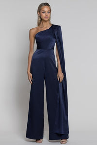 Buy Bariano Jane One Shoulder Cape Jumpsuit in Navy now at Smoke and Mirrors Boutique. Shop Bariano Jane Jumpsuit with AfterPay. Buy Bariano Jane Jumpsuit with ZipPay. Bariano Free Shipping on all orders Australia wide over $100.