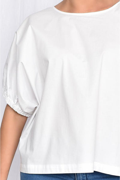 Pippa Unstructured Top - White