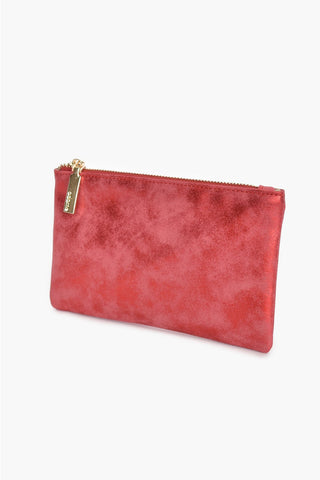 Glittery Mini Zip Top Pouch - Red