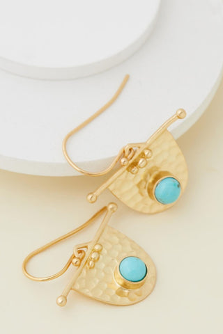 Fossil Earring - Turquoise