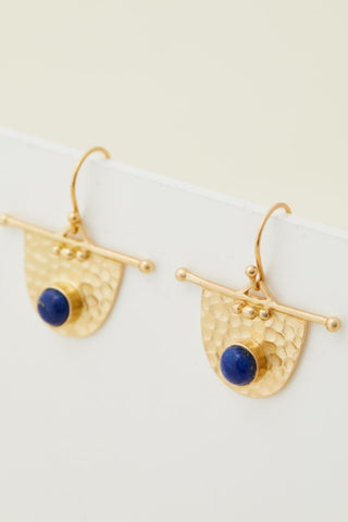 Mineral Earring - Lapis Lazuli