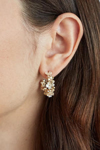 Carmen Flower Hoops - Gold