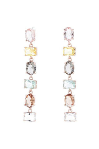 Jolie and Deen Lynette Statement Coloured Swarovski Crystal Drop Earring.