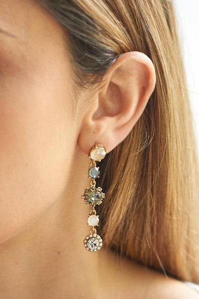 Jolie and Deen Marcella statement evening Swarovski Crystal Drop Earrings