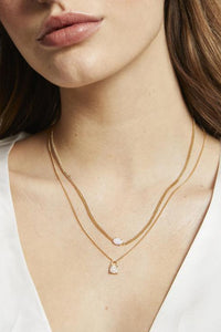 Ophelia Opal Necklace - Gold