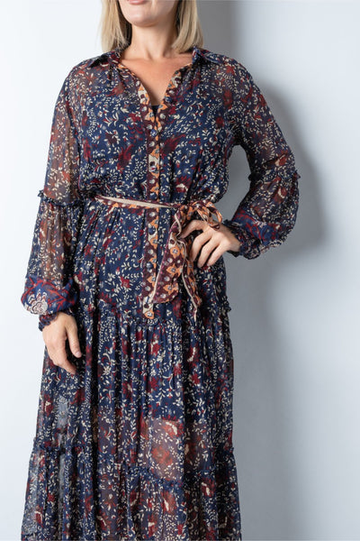Janet Shirt Dress - Navy