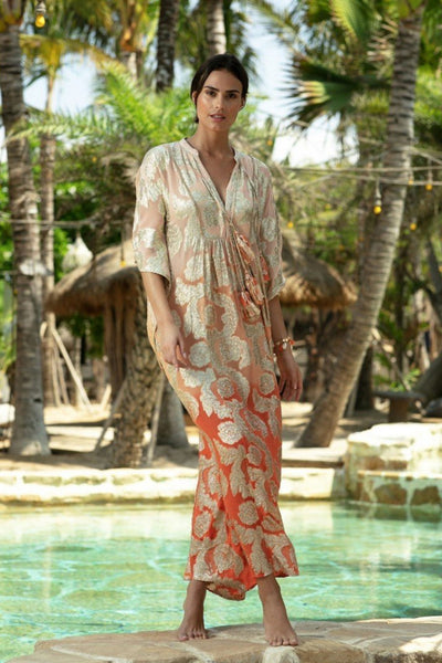 Buy Miss June Paris Bodhi Kaftan online now at Australian Stockists Smoke and Mirrors Boutique. Ombre Gold Lurex Beachwear and Resort Wear Luxury