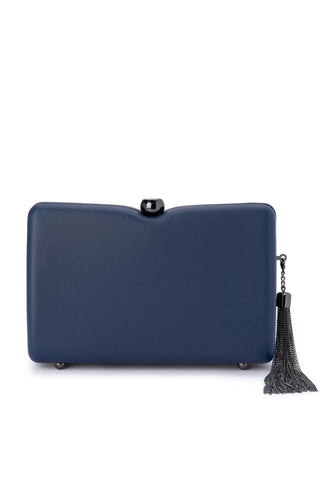 Buy Olga Berg Cassie Tassel Trimmed Shoulder Bag online. Navy Evening Bags and Clutches online Australia.