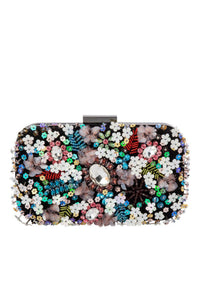 Buy Olga Berg Elke Encrusted Pod Style Clutch online. Statement Sequinned Embellished Clutches online Australia.