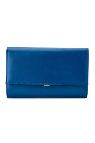 Madison Foldover Clutch - Blue